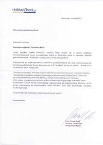 Rekomdacja HolidayCheck.pl